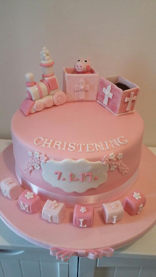 Pink Christening Cake Jan'17
